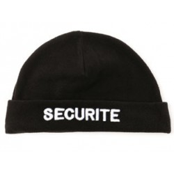 Bonnet imprimé SECURITE