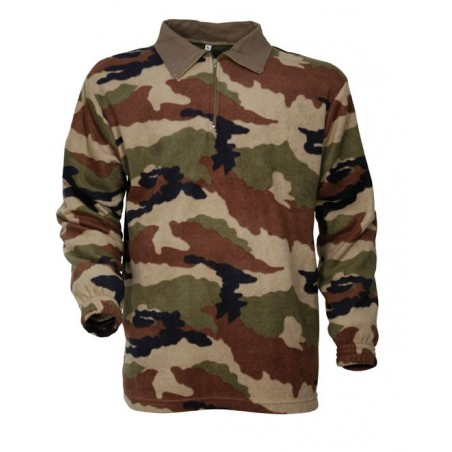 Chemise polaire militaire F1 camouflage CE