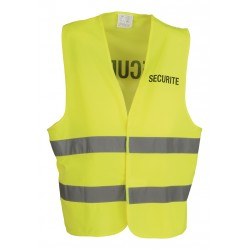 Gilet SECURITE jaune fluo...