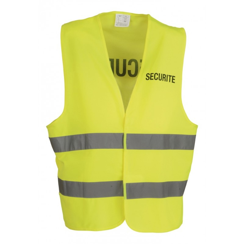 gilet securite jaune fluo cityguard. Black Bedroom Furniture Sets. Home Design Ideas