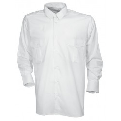 Equipement Militaire Chemise pilote blanche manches longues CityGuard - TR1621 - OUTDOOR
