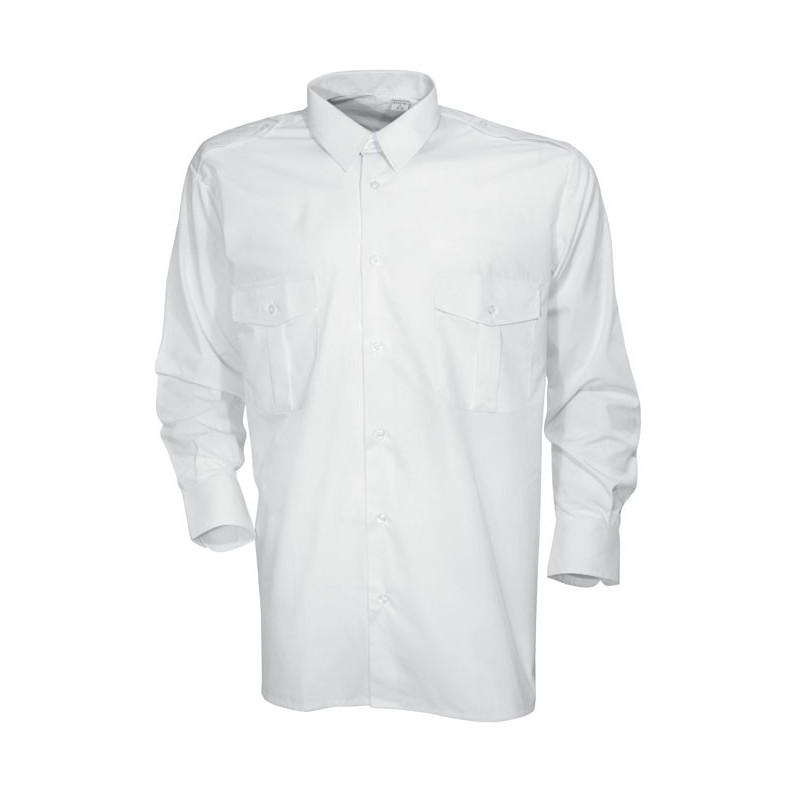 Chemise pilote blanche manches longues CityGuard - TR1621 - OUTDOOR