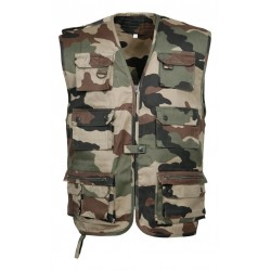 Gilet reporter camouflage CE