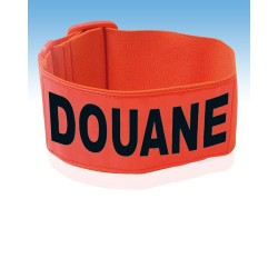 Brassard DOUANE fluo orange