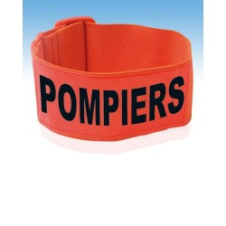Brassard pompiers fluo orange
