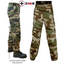 Equipement Militaire Pantalon militaire pince F2 AT camo OPEX, long - PMF2LONG - OUTDOOR