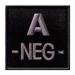 Badge velcro groupe sanguin