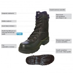Equipement Militaire Rangers Patrol poly cuir - RGXT5PC - OUTDOOR