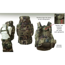 Equipement Militaire Sac à dos militaire opex 65 litres, camouflage - SD65 - OUTDOOR