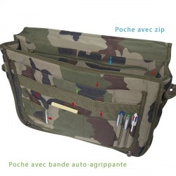 Equipement Militaire cartable porte-documents camouflage - CT715C - OUTDOOR