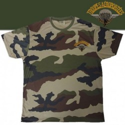 Equipement Militaire TEE SHIRT COOLDRY CAMOUFLAGE BRODE PARA - TSMICDCBRODEPA - Vêtements militaires