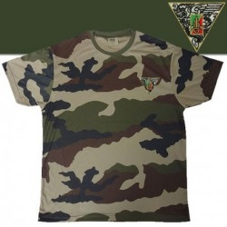 TEE SHIRT COOLDRY CAMOUFLAGE BRODE REP - TSMICDCBRODEREP - Vêtements militaires
