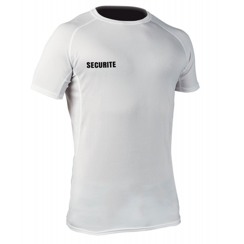 Equipement Militaire T-shirt respirant Challenger SECURITE blanc - TOE200186 - SECURITE