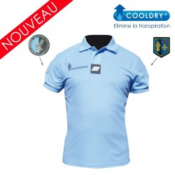 Equipement Militaire Polo Gendarmerie bleu Cooldry® anti-humidité - homme - POLOGDCDB - T-Shirt / Polo