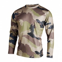 Equipement Militaire Tee-shirt dry clim cam manches longues - PRO6238 - OUTDOOR