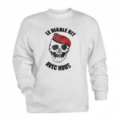 Sweat-shirt blanc diable...