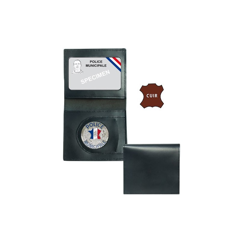 2 Municipale Volets Cuir Porte Police Carte f6gY7ymbIv