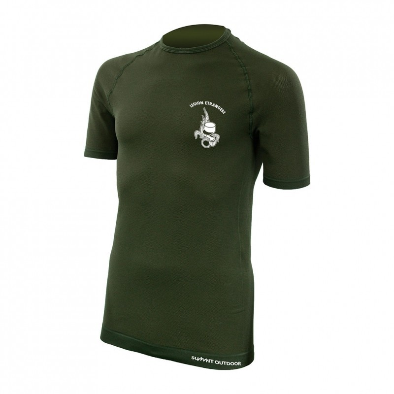 Equipement Militaire Tee-shirt active line manches courtes - vert - PRO9171 - OUTDOOR