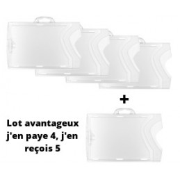 lot de 5 porte-badges - 4 payés 1 offert