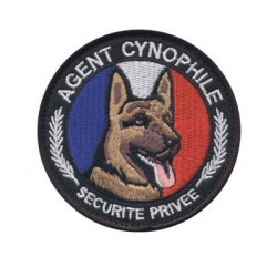 Equipement Militaire Ecusson rond agent cynophile - BADSRACB - SECURITE