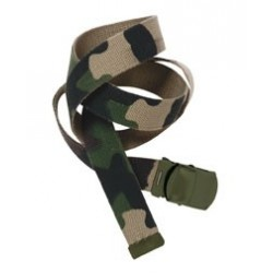 Ceinture toile militaire camouflage CE - TR2703 - OUTDOOR